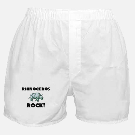 Rhinoceros Rock! Boxer Shorts