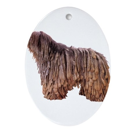 Bergamasco Sheepdog Oval Ornament