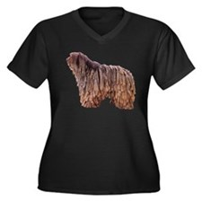 Bergamasco Sheepdog Women's Plus Size V-Neck Dark