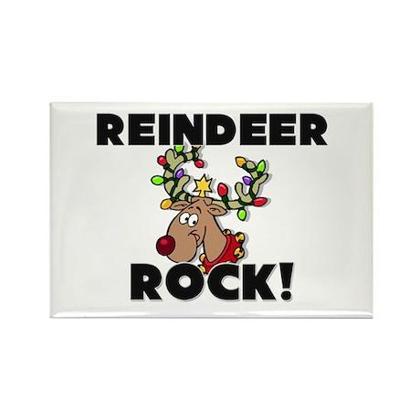 Reindeer Rock! Rectangle Magnet
