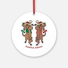 Santa Cows Ornament (Round)