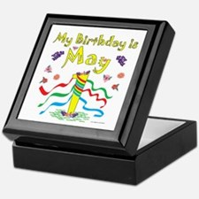 May Day May 1st Birthday Keepsake Box