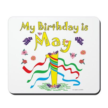 May Day May 1st Birthday Mousepad