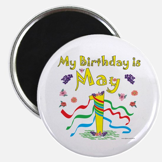 May Day May 1st Birthday Magnet