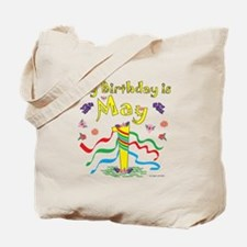 May Day May 1st Birthday Tote Bag