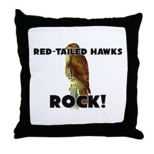Red-Tailed Hawks Rock! Throw Pillow