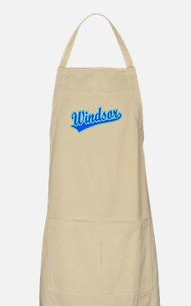 Retro Windsor (Blue) BBQ Apron