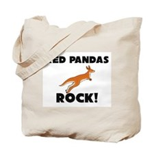 Red Pandas Rock! Tote Bag