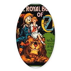 Royal Book Oval Sticker (50 pk)