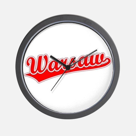 Retro Warsaw (Red) Wall Clock