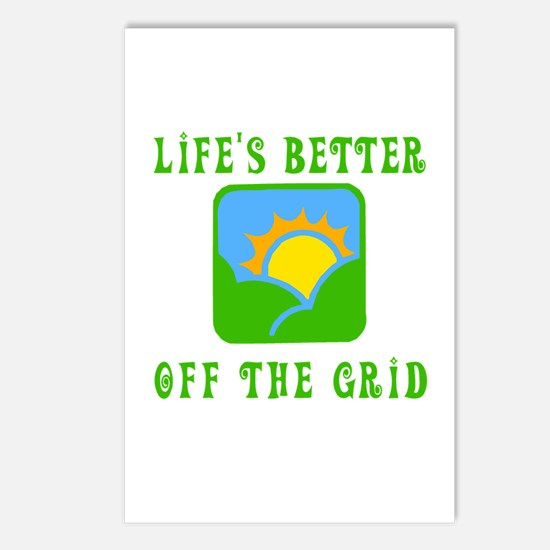 Life's Better Off the Grid Postcards (Package of 8