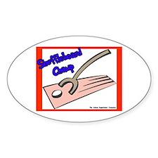 Shuffleboard Champ Oval Sticker