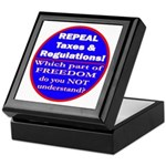 Repeal Taxes #3c Keepsake Box