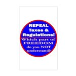Repeal Taxes #3c Rectangle Sticker