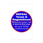 Repeal Taxes #3c Rectangle Sticker 50 pk)