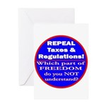 Repeal Taxes #3c Greeting Card