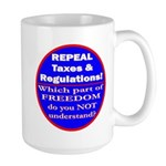 Repeal Taxes #3c Large Mug