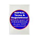 Repeal Taxes #3c Rectangle Magnet (100 pack)