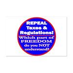 Repeal Taxes #3c Mini Poster Print