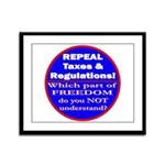 Repeal Taxes #3c Framed Panel Print