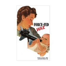 Force Fed War Rectangle Decal