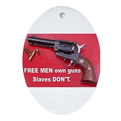 Free Men Own Guns Oval Ornament