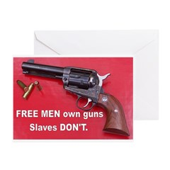 Free Men Own Guns Greeting Cards (Pk of 10)
