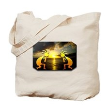 Two Kokopelli Sunset Tote Bag