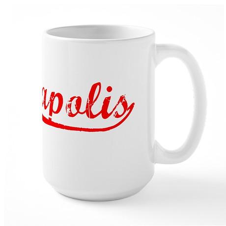 Vintage Minneapolis (Red) Large Mug