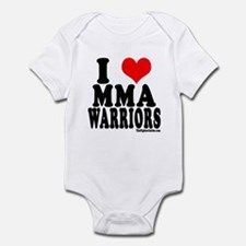 I LOVE MMA WARRIORS Infant Bodysuit