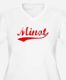 Vintage Minot (Red) T-Shirt
