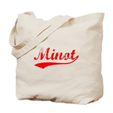 Vintage Minot (Red) Tote Bag