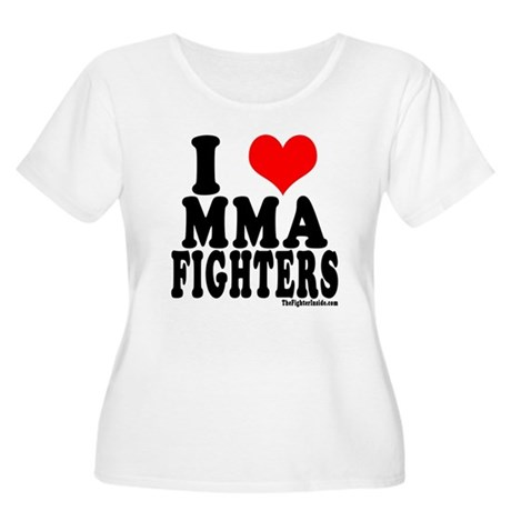 I LOVE MMA FIGHTERS Women's Plus Size Scoop Neck T
