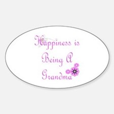 Happiness is being a Grandma Oval Decal