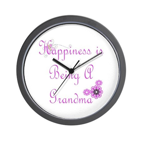 Happiness is being a Grandma Wall Clock