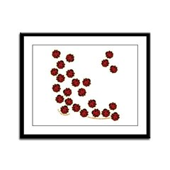 Lots of Little Ladybugs Framed Panel Print