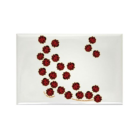 Lots of Little Ladybugs Rectangle Magnet (10 pack)