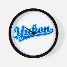 Retro Yukon (Blue) Wall Clock