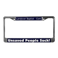 Cute Jesus was a jew License Plate Frame