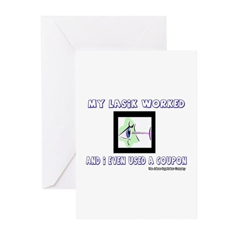 My Lasik Worked Greeting Cards (Pk of 10)