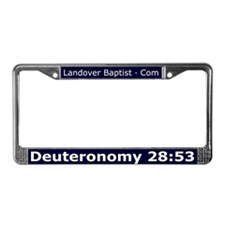 Funny Deuteronomy License Plate Frame