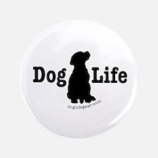 "Dog Life - Labrador 3.5"" Button (100 pack)"