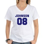 Johnson 08 Women's V-Neck T-Shirt