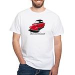 Red/Black Messerschmitt Deluxe2 White T-Shirt