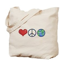 Love Peace Earth Tote Bag