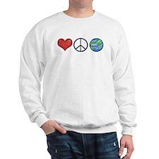 Love Peace Earth Sweatshirt
