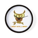 No Hoot Wall Clock