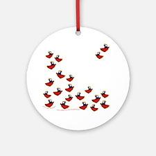 Teeny Tiny Tugboats Ornament (Round)