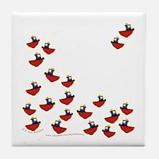 Teeny Tiny Tugboats Tile Coaster