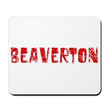 Beaverton Faded (Red) Mousepad